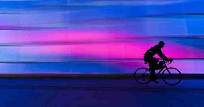 Electric Bike using lights at night