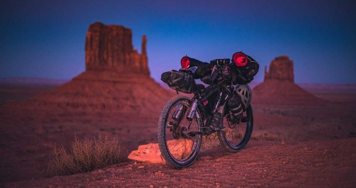 E-Biking through the American Desert - One place you want to avoid flat tires