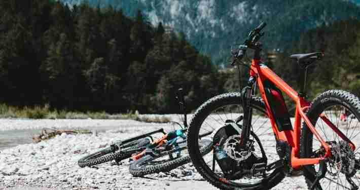 Electric Bike on a trail