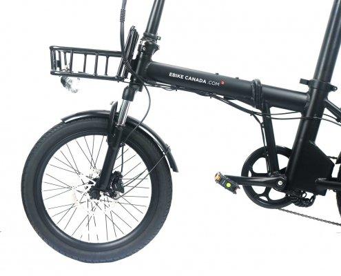 Ebike Canada – 20″ Folding Bike in Matt Black