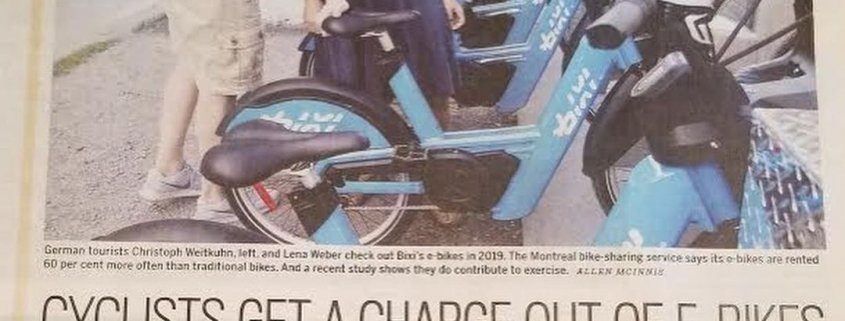 Health Benefots of Ebikes by Jill Barker, The Vancouver Sun